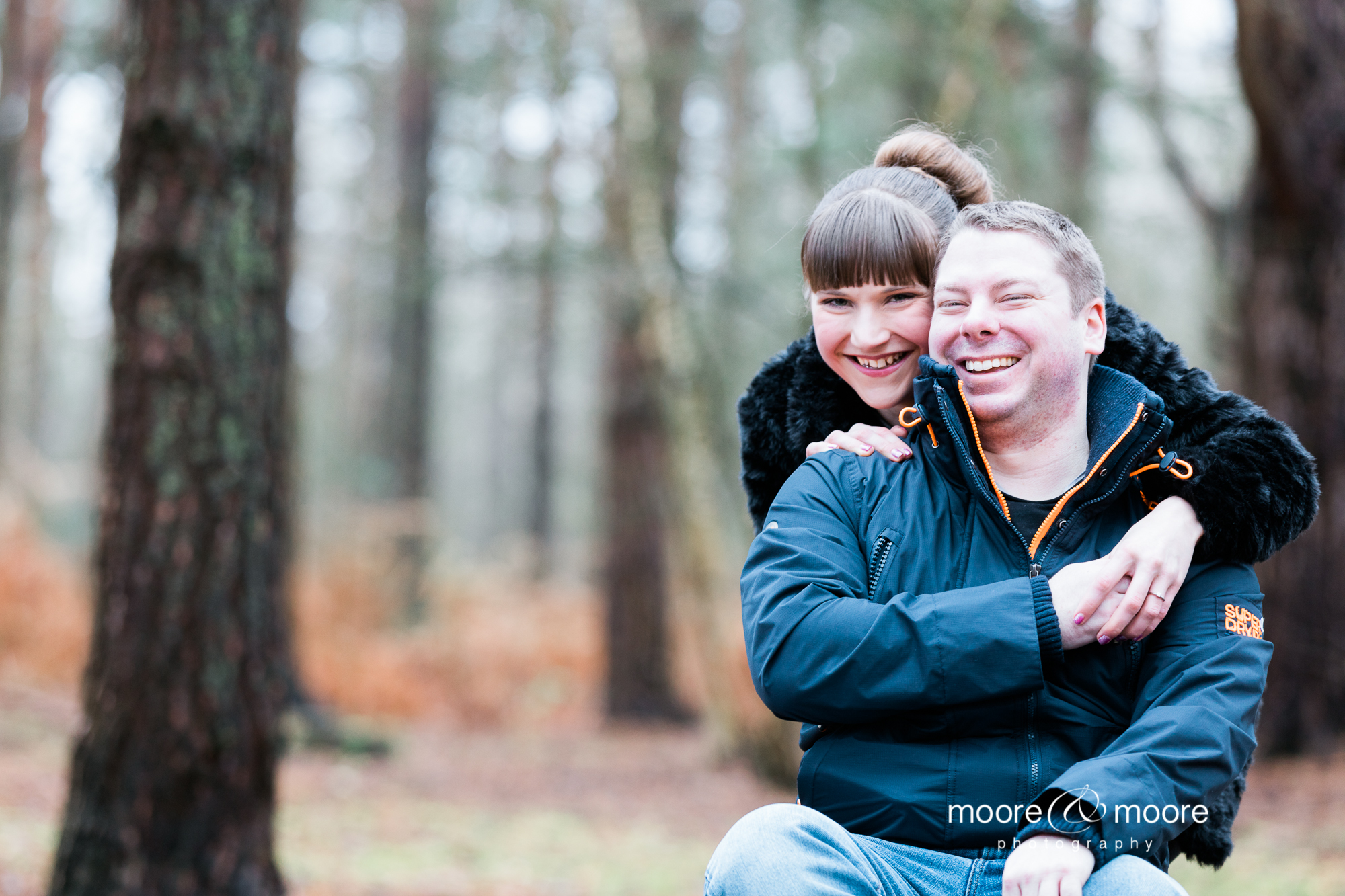 relaxed engagement photography down in the woods from moore&moore photography