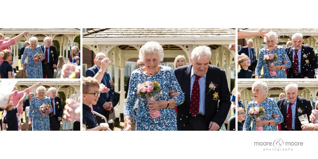 Confetti for the couple celebrating their 70th Wedding Anniversary - photography by Helen Moore, moore&moore photography