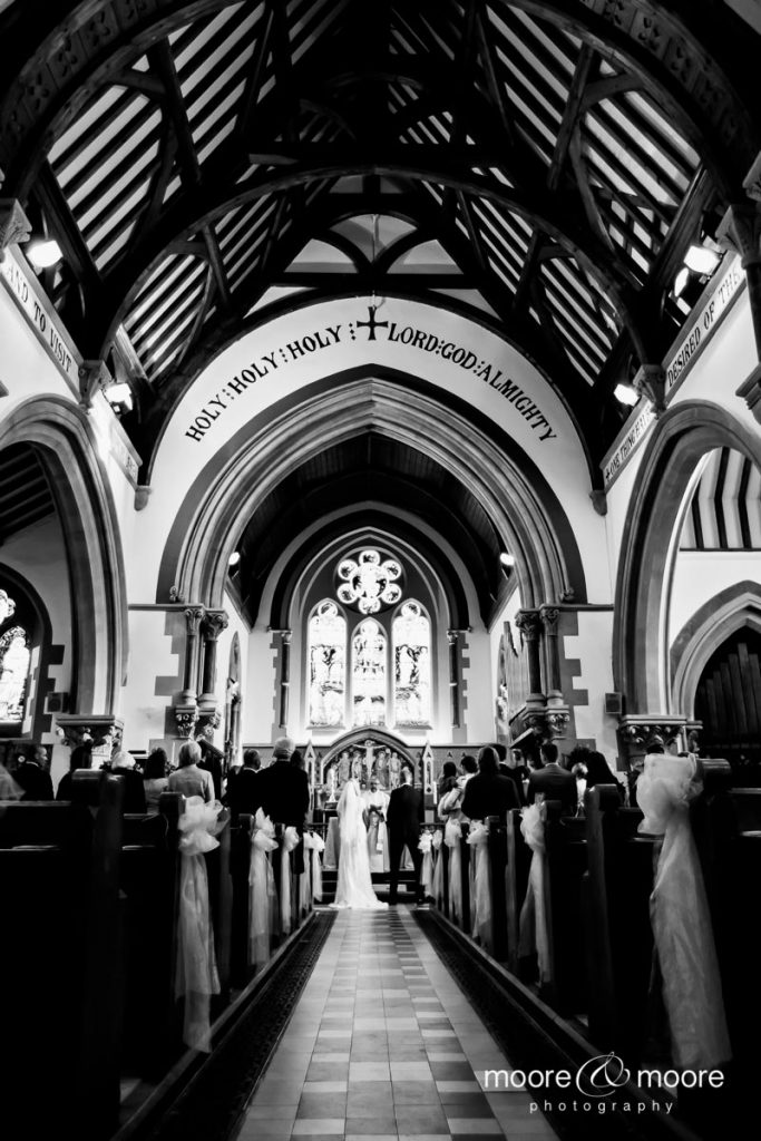 Weddings at The Barn Bury Court - married first at St Madelene Church, photograph by moore&moore photography
