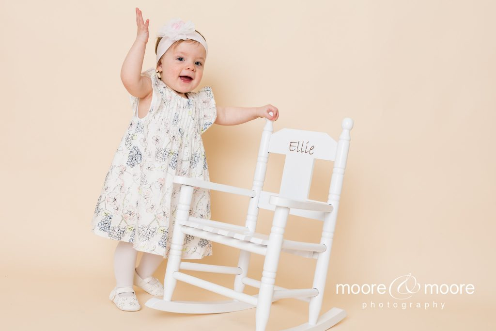 Studio photo session for babies and toddlers photographed by hampshire photographers moore&moore photography