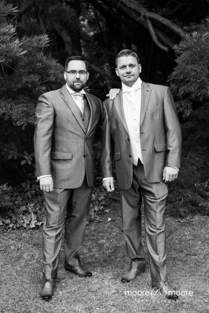 Weddings at the Lismoyne Hotel - groom and best man wedding photography