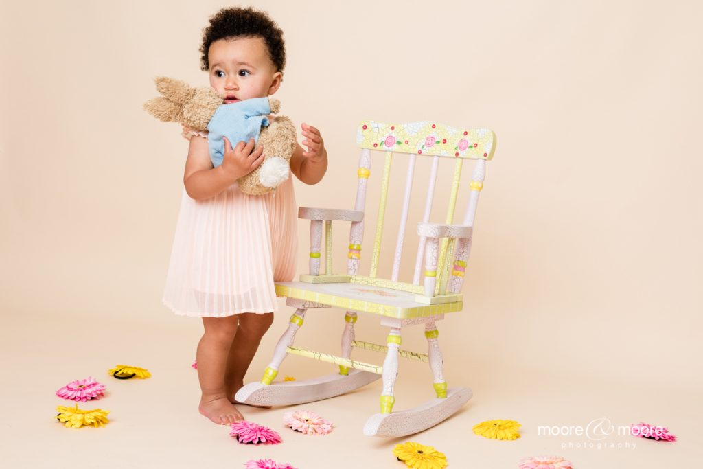 """studio photography session """"My First Birthday Photo shoot"""" from Hampshire photographer, moore&moore"""